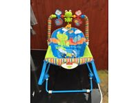 Fisher Price Musical Rocker/Seat/Stand with soothing vibration