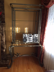 Large Baker's Rack & Matching End Tables