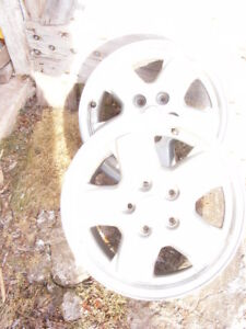 "PAIR of JEEP LIBERTY - FACTORY  ALLOY RIMS  16"" dia."