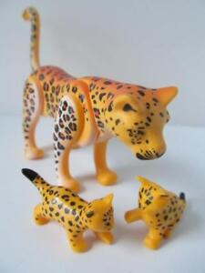 Playmobil Leopard & cubs NEW extra zoo/African safari/jungle animals