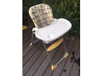BE SMART...SAVE 62% OF RRP!Joie Mimzy Snacker Highchair - OWL ... in a good condition ... RRP £39.99