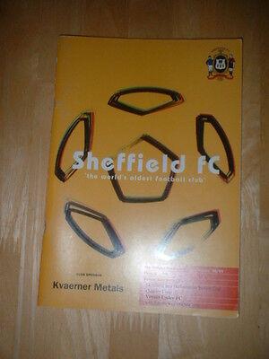 1998/99 SHEFFIELD FC V EMLEY - SHEFFIELD SENIOR CUP Q/F
