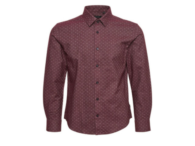 Matinique Allan Brushed Slim Fit Shirt/Deep Wine - XL £79.95