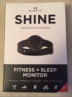 MISFIT WEARABLES SHINE FITNESS ACTIVITY AND SLEEP MONITOR NEW WATERPROOF BLACK