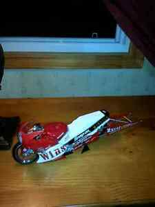 DIECAST WINSTON PRO DRAG RACE MOTORCYCLE BIKE 1:9TH