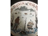 DECORATIVE RUSSIAN PLATE - WINTER HUNTING