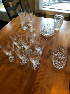 Pinwheel Wine Glasses, Dish, Vase, Candle Holder and Butter Dish