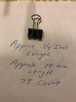 Office Supply File Organizer Black Binder Clips-19 Mm-78 Pcs