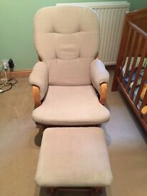Dutailier Lily Glider Chair and Foot Stool