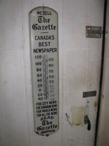 Montreal Gazette Thermometer