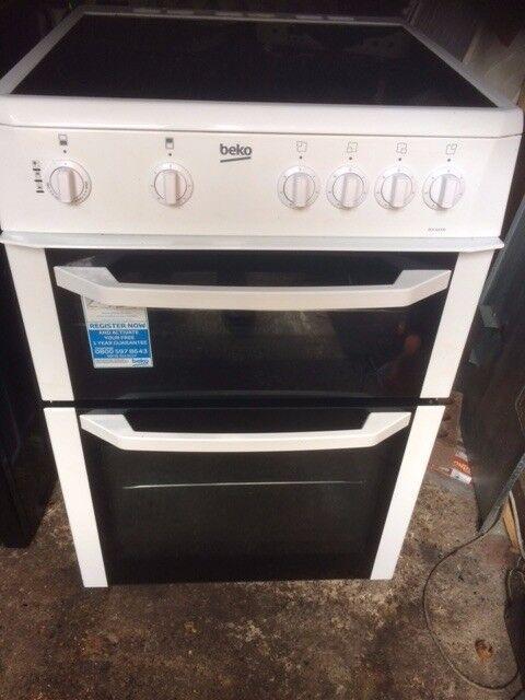 £123.33 beko Ceramic electric cooker+60cm+3 months warranty for £123.33