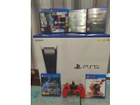 PlayStation 5 boxed with games & controller