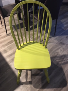 Solid Wood Bass River Painted Lime Green Chair