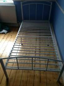 White metal Next single bedframe