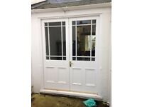 French doors, single door, casement window and sash window