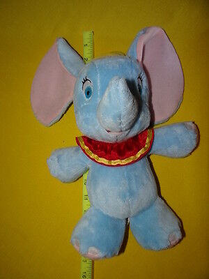 "Disney Store Plush BABY DUMBO Elephant Super Soft 12"" Stuffed Animal Blue"
