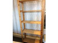 Wooden Shelving Unit 175cn high x 82cm wide x 30cm depth approx.