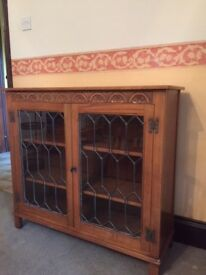 Old Charm Glass Cabinet