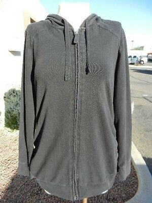 Womens Oh Baby Motherhood Hoodie Sweater Maternity Size L Black
