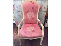 Big Pretty Pink Louis STATEMENT CHAIR Wedding Throne Bedroom Boudoir Shabby Chic