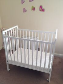 Saplings Space Saver Cot and Foam Mattress - Almost New