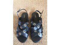 Brand New Black Sandals 7