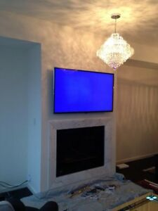 Secure Tv Wall Mounting with cable concealment 416-518-1538