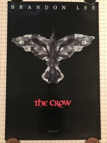 Original THE CROW 1994 SS Advance Theatrical Poster 27 x 40