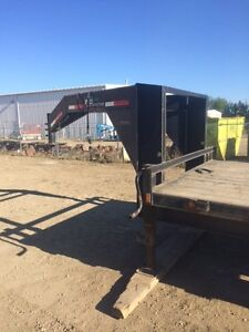 30 foot goose neck trailer 3 axle c/w 2 new spare tires with rim