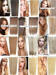 """CLIP IN ON HAIR EXTENSION CLIP,24"""", 60 CM,STRAIGH,Like REAL HAIR"""