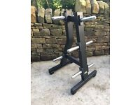 TECHNOGYM PURE STRENGHTH OLYMPIC PLATE WEIGHT TREE COMMERCIAL GRADE EQUIPMENT