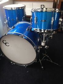 c&c c and c player date drums, drum kit, for sale, 20 , 12 , 14 , in blue sparkle excellent