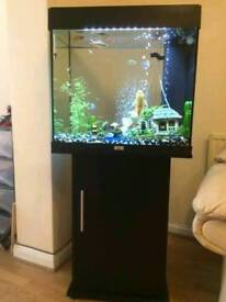 JEWEL LIDO 120 LITRE FISHTANK WITH IN BLACK WITH MATCHING CABINET IN EXCELLENT CONDITION
