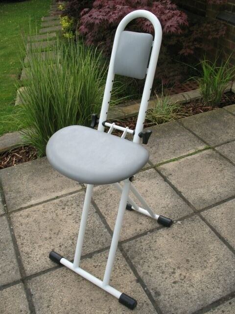 Surprising Folding Perching Ironing Stool With Padded Adjustable Height Seat In Kingston London Gumtree Evergreenethics Interior Chair Design Evergreenethicsorg