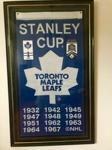 Maple Leafs Championship Banner, Signed by Johnny Bower