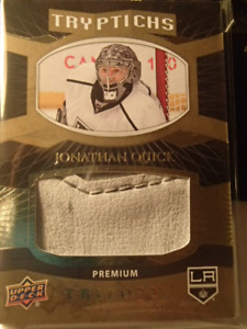carte de hockey trilogy Jonathan quick piece of glove 16/49