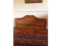 Double Wooden/wicker headboard