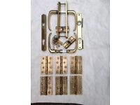 Solid brass door furniture including Brass Butts and Euro Cylinders with keys.