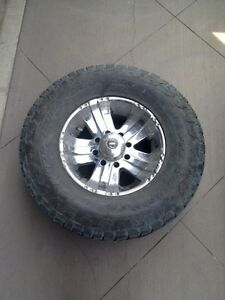Custom Chrome rims + Nitto Terra Grappler 335 65 18 Ford F350