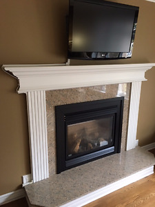 Gas Fireplace Insert with Mantel Kit