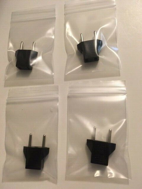 Electrical Travel Converter Adapter Power Plug, qty. 4, for