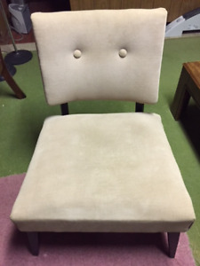 Solid wood retro 1970s style living room chair
