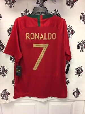 Cristiano Ronaldo 2018 Portugal World Cup Home Red Jersey Nike Large