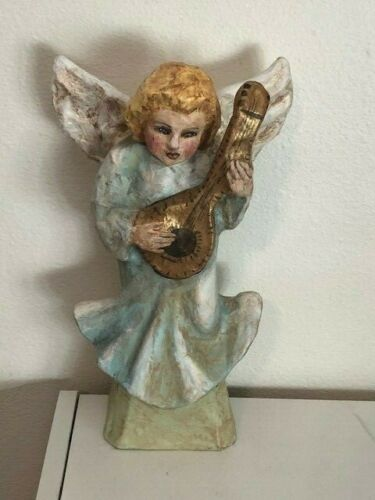 """Vintage Angel Paper Mache Figurine  12"""""""