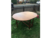 FREE Dining table gateleg solid wood extendable seats 1-6 people