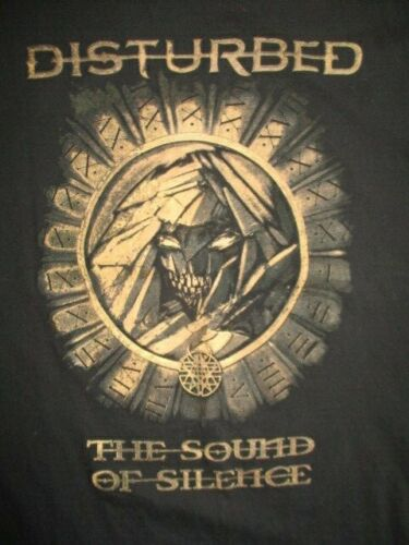 """DISTURBED """"The Sound of Silence"""" Concert (XL) Shirt HELLO DARKNESS My Old Friend"""