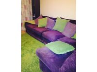 Excellent and good condition corner fabric sofa for sale in Peterborough . £220 only collection