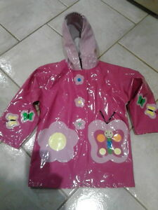 """Kidorable """"Butterfly"""" Raincoat, Girls, Size 4 (Truly Gorgeous)"""