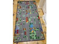 Giant Kids City Playmat Fun Town Cars Play Road Carpet Rug EVA Foam Toy- GREAT condition