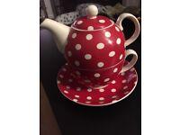 Cath Kidston style tea pot/cup/saucer